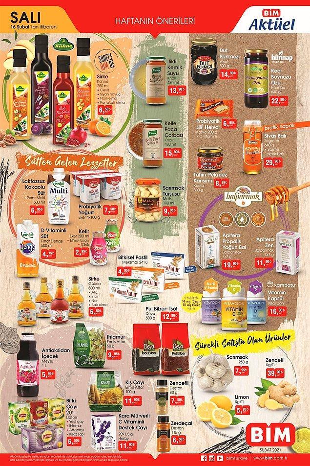 BİM 16 Şubat Salı İndirimli Ürünleri