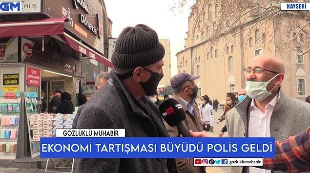 Gözlüklü Muhabir iismli YouTube kanalı, mikrofonu Kayseri'de vatandaşlara uzattı. Ortalık karıştı.