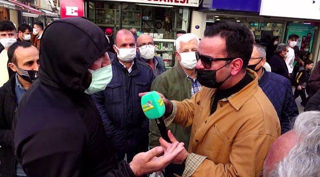 Mikrofonu sokaktaki vatandaşa uzatan Tüylü Mikrofon'a konuşan bir kişi, hükümeti eleştirenlere demediğini bırakmadı.
