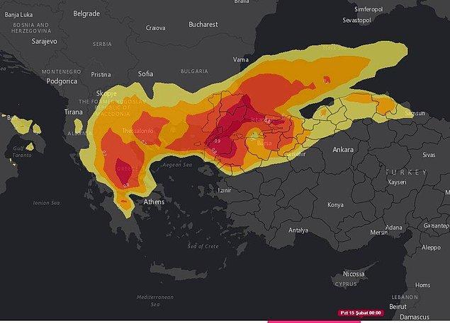 Harita paylaşıldı
