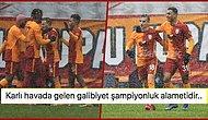 Cimbom Liderliği Bırakmadı! Kar Yağışı Altında Oynanan Maçta Galatasaray, Kasımpaşa Engelini Zor da Olsa Aştı