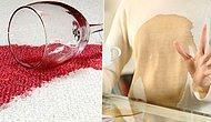 Biraz Karbonat, Biraz Sirkeyle Şaraptan Mürekkebe Kıyafetlerdeki Tüm Lekeleri Çıkarabilirsiniz