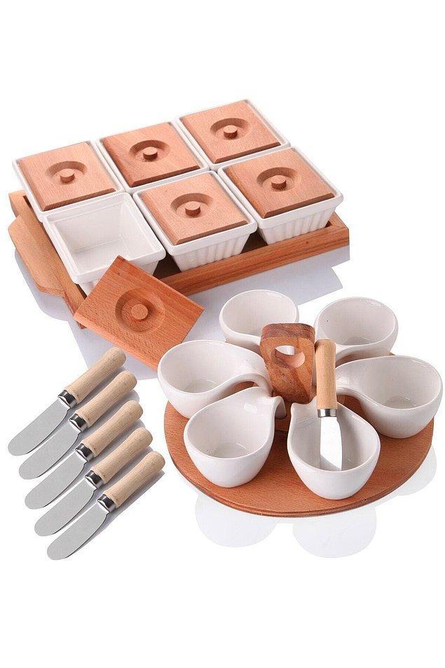 16. Sevdikleriniz için özenli bir kahvaltı sofrası hazırlamayı seviyorsanız bu sete bir bakın.