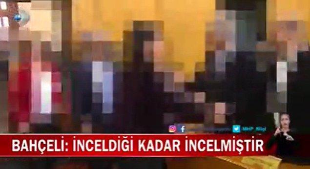 Bahçeli'nin Gara'da 13 şehit verdiğimiz operasyonla ilgili ve Anayasa Mahkemesi'nin kararlarıyla ilgili sözlerinin verildiği haberde, HDP'nin Meclis grubu, eski HDP eş Genel Başkanı Selahattin Demirtaş ile Osman Kavala'nın görüntüleri buzlanarak verildiği iddia edildi.