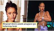 Rihanna Instagram'da Paylaştığı Üstsüz Fotoğrafındaki Detay Nedeniyle Hindistan'da Tepki Çekti!