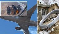 Motoru Alev Alan Yolcu Uçağından Kopan Parçalar Evlerin Bahçesine Düştü
