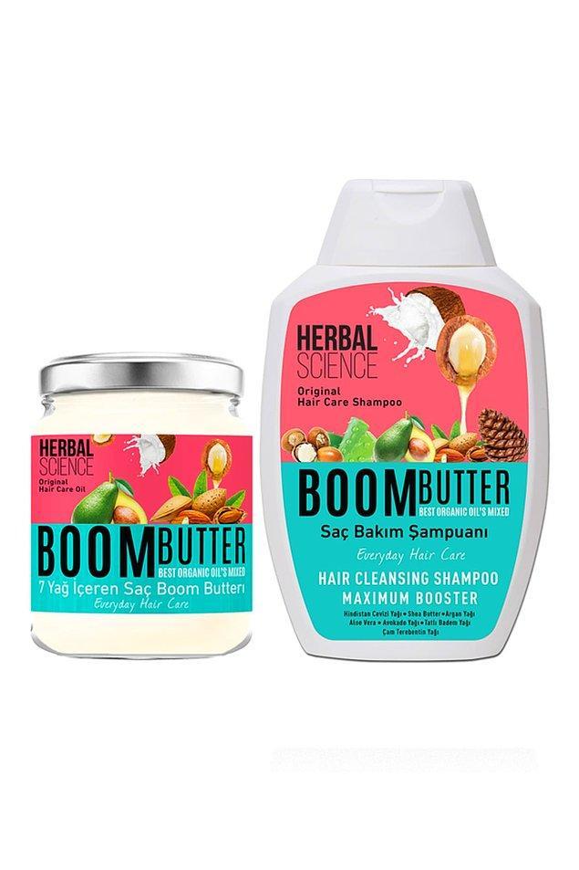 8. Boom Butter saç bakım yağına zaten bayılıyorduk, şampuanı ile birlikte set halinde en çok satılanlardan biri olmuş.