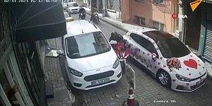Düğün Konvoyunda Ön Kaldırarak Şov Yapmak İsterken Gelin Arabasına Çarpıp Kaza Yapan Motosikletli
