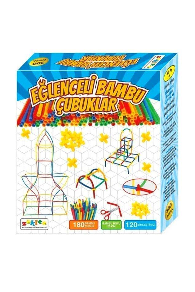 19. Uygun fiyata alabileceğiniz ve çocukların eğlenmesi garanti olan bir oyuncak da bu bambu çubukları.
