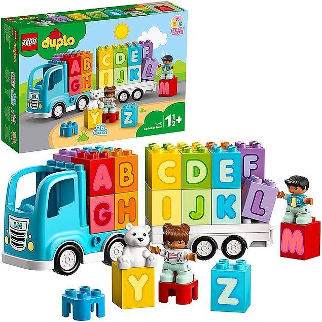 26. Herkes Frozen sevmek zorunda değil elbette. Benim çocuğum hem lego oynasın hem de alfabeyi tanımaya başlasın diyenler için bu set.