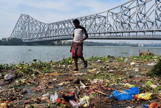 7. Hindistan'daki çöpler: