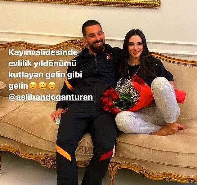 3. Arda Turan ile eşi Aslıhan Doğan Turan'ın 'evlilik yıl dönümü fotoğrafları' çok konuşuldu!