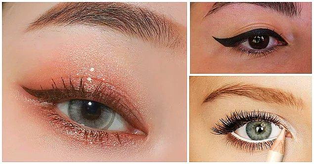 5. Küçük Gözler: gözlerinizi biraz büyük göstermek için bazı hilelere başvurmalısınız.