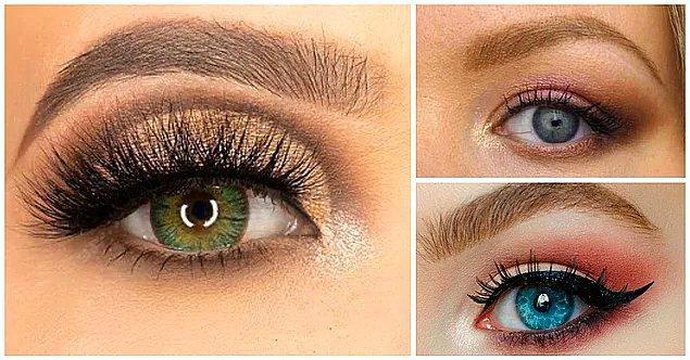 11. Düşük Gözler: göz kapağının dış tarafına yoğunlaşmalısınız.