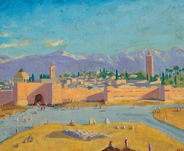 """İkinci Dünya Savaşı sırasında 1943 yılında resmî bir ziyaret sırasında yapılan """"The Tower of the Koutoubia Mosque"""" isimli tablo 1.7 ila 2.8 milyon avro arasındaki tahmini satış fiyatını çok aşmıştır."""