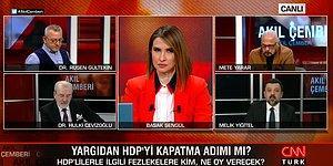 CNN Türk Ekranlarında Gergin Anlar! Ruşen Gültekin'le Melik Yiğitel Arasında 'Cahil' Tartışması