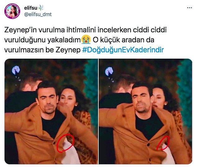 1. Doğduğun Ev Kaderindir'de aslında Mehdi vurulurken Zeynep de arada kaynamış. Normalde dizide Zeynep vurulmuyor.