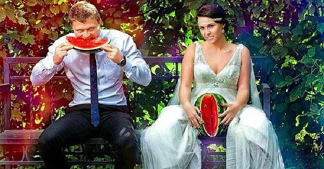 """9. """"Sıra dışı bir düğün fotoğrafı çekimi..."""""""