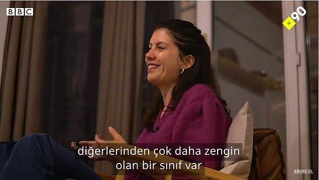 Türkiye'de ise diğerlerinden daha zengin olan sınıfın bunu göstermek istediğinden de bahsediyor Léa.