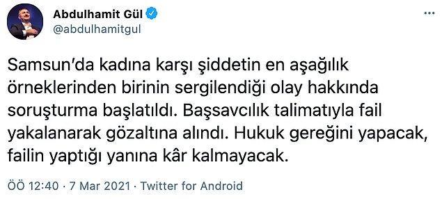 Bakan Gül, saldırganın gözaltına alındığını duyurdu
