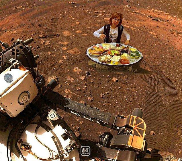 7. Mars'tan görüntüler gelmeye devam ediyor.
