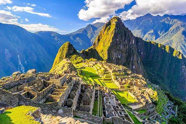5. Machu Picchu'yu inşa etmek için tekerlek kullanılmadı.