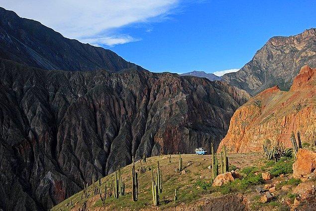 8. Dünyanın en derin kanyonu Peru'dadır.