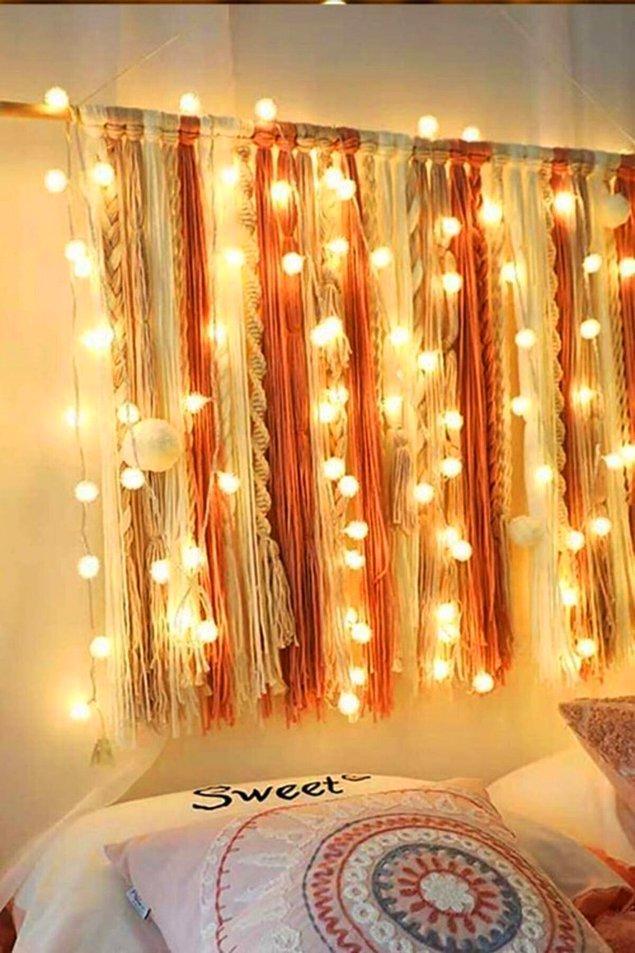 10. İster perdeye, ister aynaya, ister duvara... Her yerde çok güzel duracak, yatak odanızı ışıldatacak bir ürün bu.