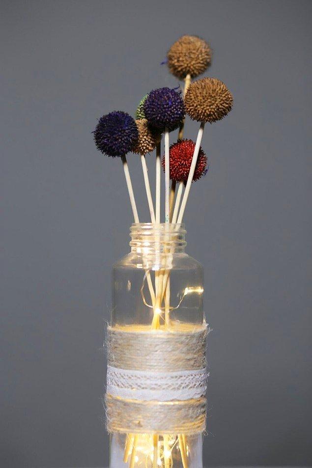 11. Renklendirilmiş zingil tohumları ile yatak odanıza renk katmaya ne dersiniz?