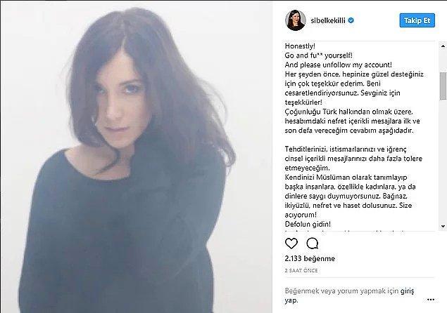 Sibel Kekilli, bundan yaklaşık 4 yıl önce, gelen iğrenç taciz mesajlarına haklı olarak isyan bayrağını çekmiş ve Instagram'dan Türkiye'yi engellemişti.