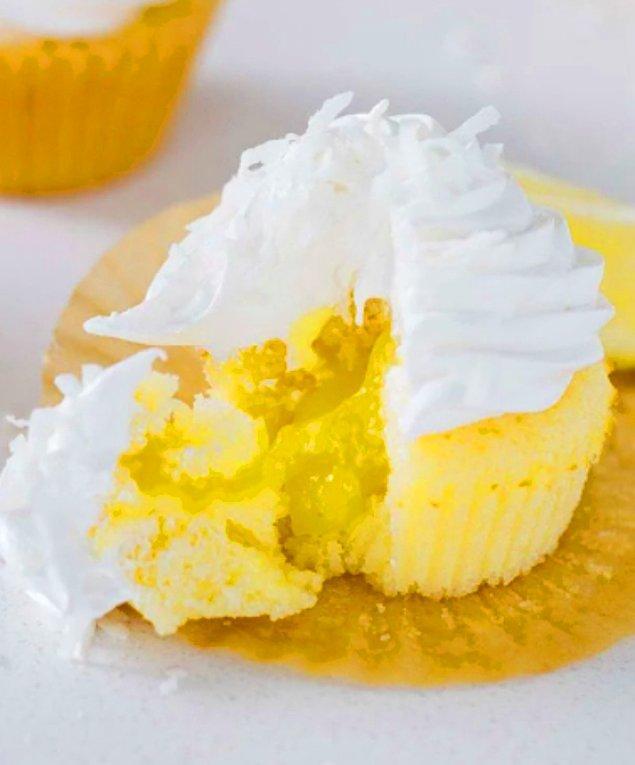 2. Limon Dolgulu Cupcake: