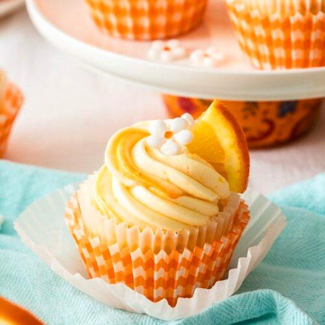 10. Portakallı Cupcake: