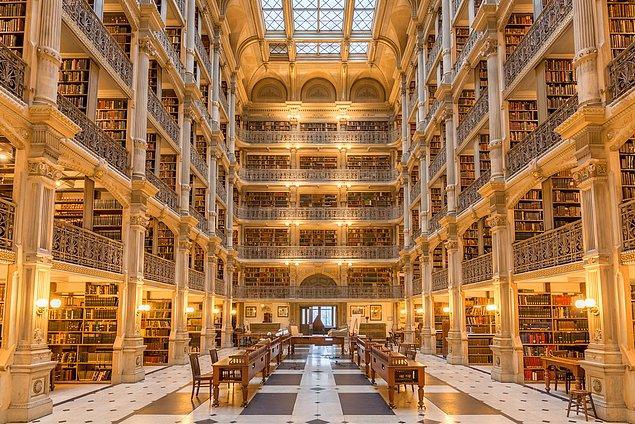 6. George Peabody Kütüphanesi-ABD