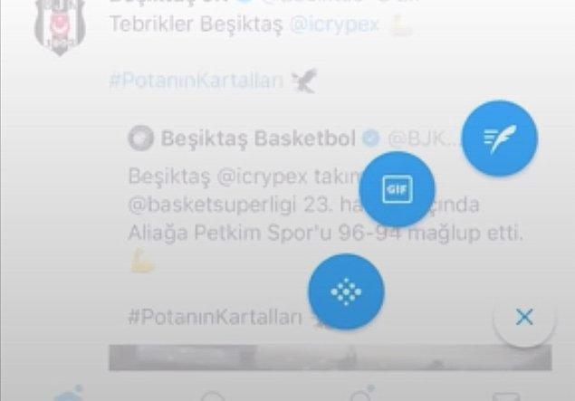 Uygulamanın sizin hesabınızda aktif olup olmadığını öğrenmek ve alanınızı açmak için telefonunuzda tweet atma butonuna basılı tutun.