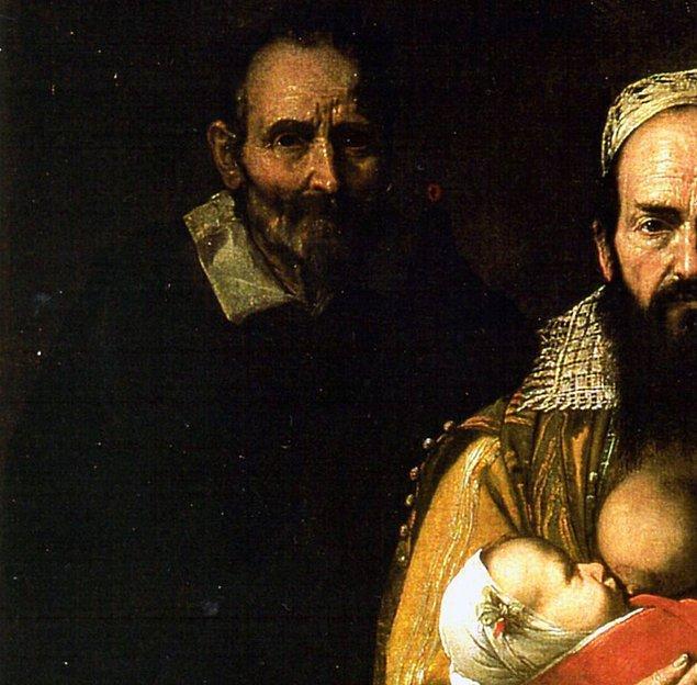 """""""Arkasında gördüğünüz ise kocası Felici de Amici. Ve Ventura kocasına doğurduğu üç oğlunu da kaybeden bir kadından daha çok sakallı bir beyefendiye benziyor."""""""