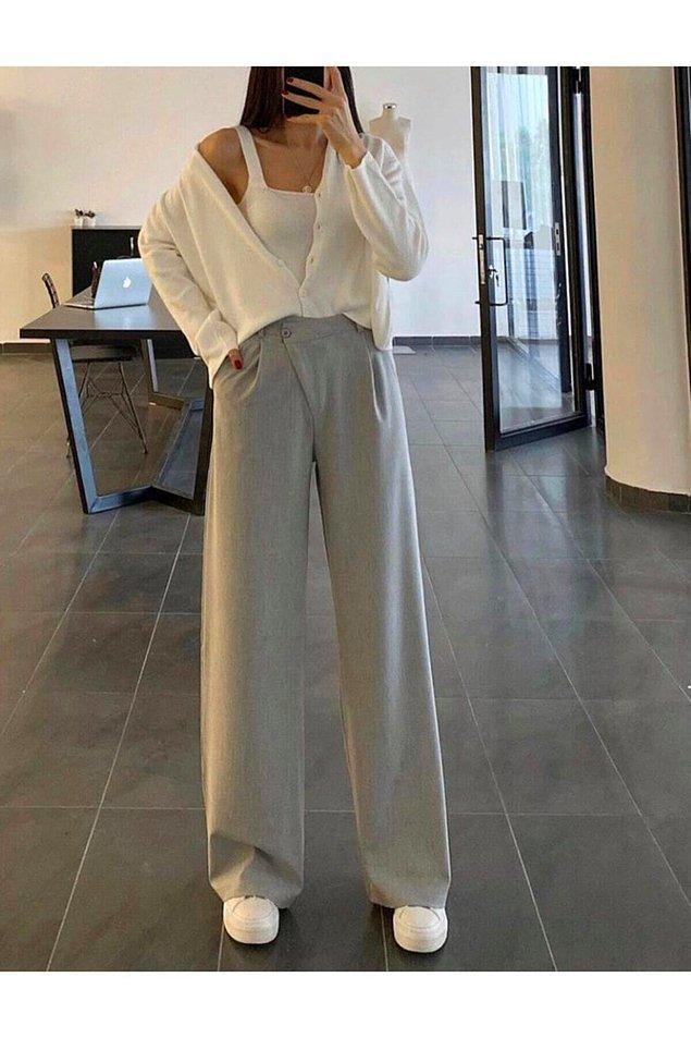 20. Bu pantolonun dokusu ve modeli bir harika... Rahatlığı fotoğraftan bile anlaşılıyor.