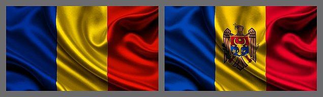 3. Romanya bayrağına çok benzeyen bayraklarının ortasında ülke arması bulunur.