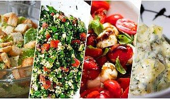 Sofranın En Renkli Üyesi Birbirinden Güzel 10 Harika Salata Tarifi