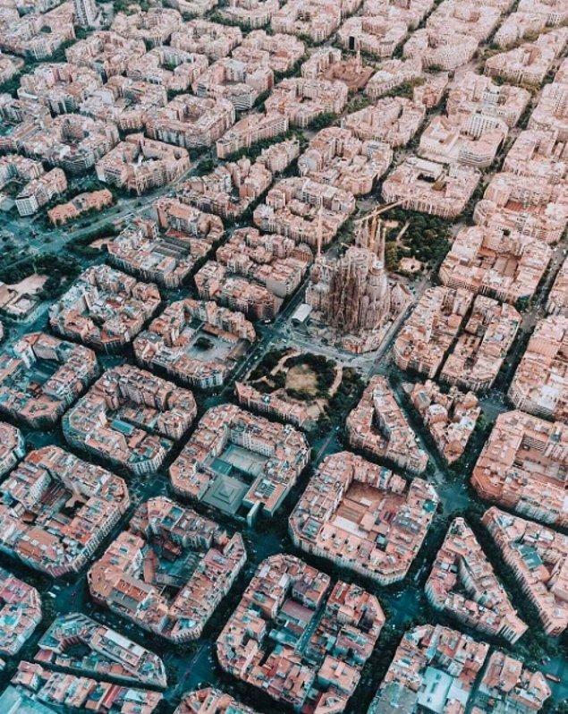 6. Bu görselde ise Barselona'nın kuş bakışı görüntüsünü görüyorsunuz: