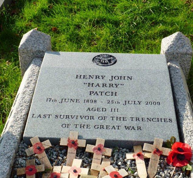 13. Harry Patch, 2009'daki ölümüne kadar herhangi bir ulustan hayatta kalmış olan son Birinci Dünya Savaşı gazisiydi.