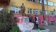 Tekirdağ'da Atatürk Heykeline Boya ile Hakaret İçerikli Yazılar Yazıldı