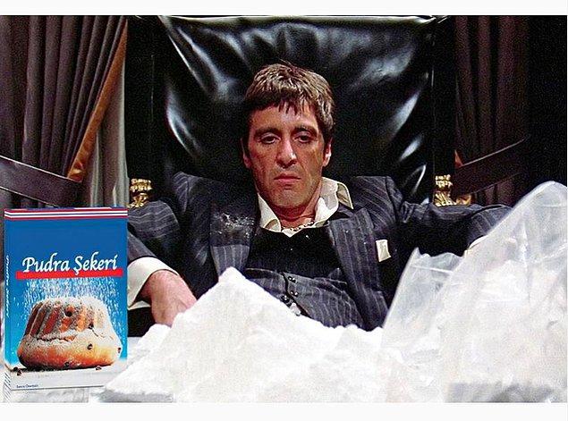 5. Pudra şekeri yiyince delirdiği an...