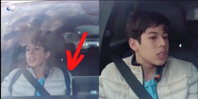 7. Sadakatsiz'de Asya'nın oğlu Ali'nin arabayla giderken ilk sahnede çantası gözüküyor. İkinci sahnede ise çanta yok.
