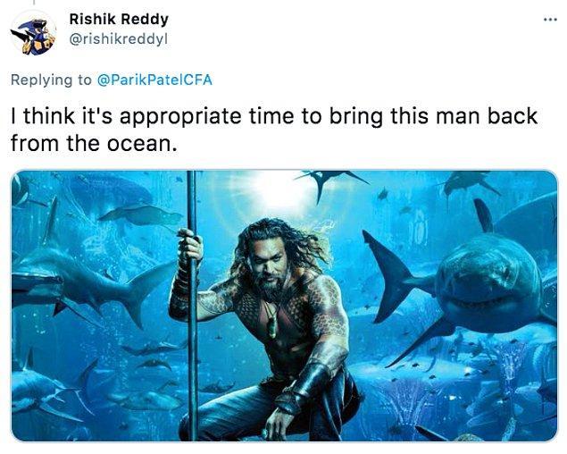 """3. """"Bu adamı okyanustan geri getirmek için doğru bir zaman olduğunu düşünüyorum."""""""