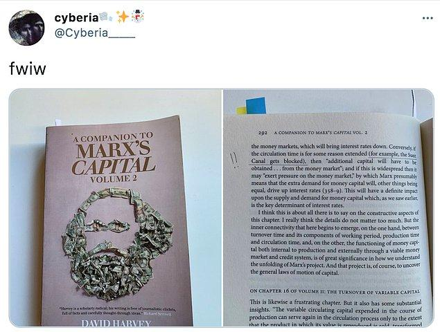 5. Tabii Karl Marx'ın daha öncesinde 'Örneğin Süveyş Kanalı tıkanmış olsun' diye bir örneklem yapması da büyük dikkat çekti.