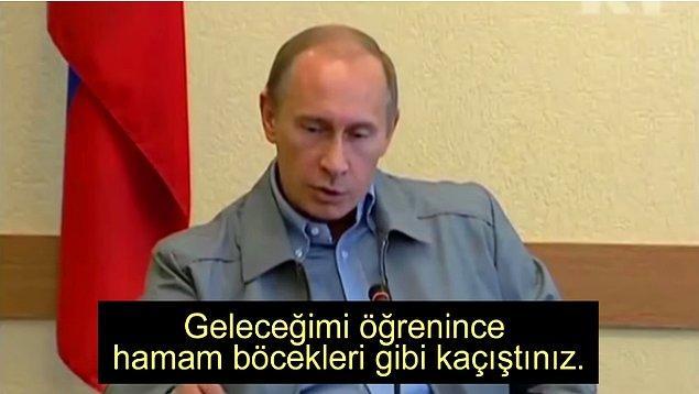 8. Putin oligarşi yöneticilerinin ve mafyaların başına bir demir yumruk gibi düştü ve oligarşi yöneticilerini kendi kurallarıyla baskı altına aldı.