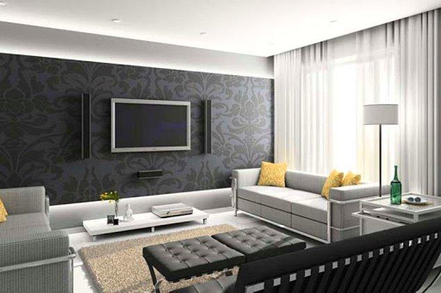 10. Bir önemli detayda TV'yi monte ettiğiniz duvarın rengi.