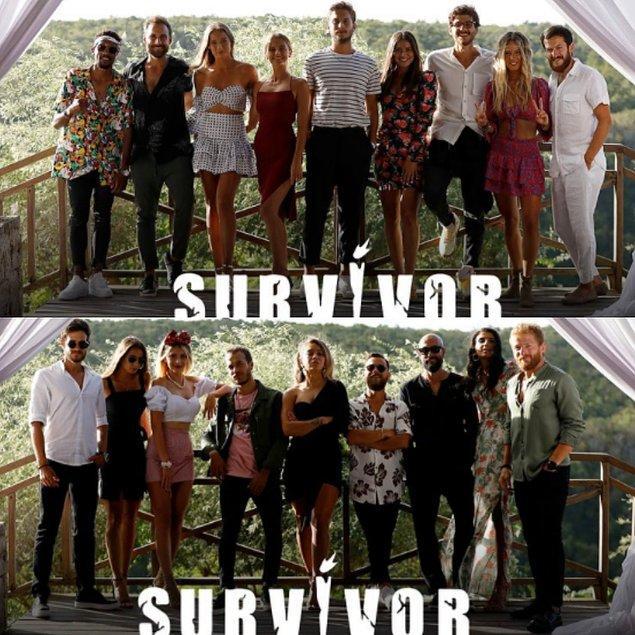 Pazar günü gerçekleşen büyük Survivor birleşme partisinde bu yıl oldukça renkli anlar yakalandı.