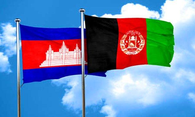 5. Afganistan ve Kamboçya bayraklarını diğer bayraklardan ayıran bir özellik var...