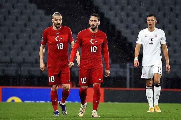 2022 Dünya Kupası Elemeleri'nde A Milli Takım, Atatürk Olimpiyat Stadı'nda Letonya'yı konuk etti.